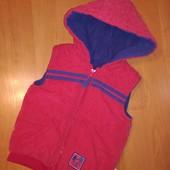 George Жилетка для мальчика наполнитель +Флисовая подкладка, на 1,5-2 года, на рост 86-92