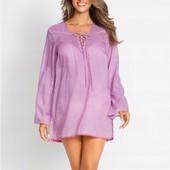 Симпатичная, фирменная, качественная блузка-туника. Пр-во Индия. р-р: 50. новая. описание