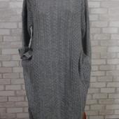 Платье вязка мягкое базовое 50-52