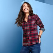 Классная фланелевая рубашка от Tchibo (германия) размер евро 40 (укр 46)