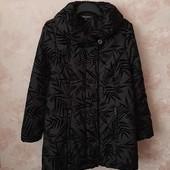 Красивая демисезонная куртка с велюровым узором ! УП скидка 10%
