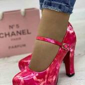Очень крутые женские туфли розовые