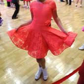 Плаття рейтингове бейсік для бальних танців ювенали в стані нового. Платье для бальных танцев
