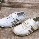 Детские полностью нат. кожанные кроссовки на липучке-Walker.31-36 размер.