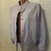 Красивый весенний нежный мягкий бомбер куртка на ощупь как замш р.12 Новый Акция читайте