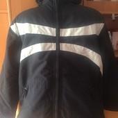 термо Куртка. холодная весна, внутри флис, размер 152 см. Campus snow gear. состояние хорошее