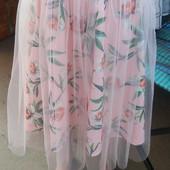 Молодежная юбка с фатином. Размер 40, 42, 44, 46