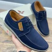 Стильные Мужские туфли. ЭКО нубук.