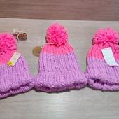 Англия!!! Вязанная яркая шапка для девочки! Размер на выбор: 7-10 лет или 11-13 (можно маме