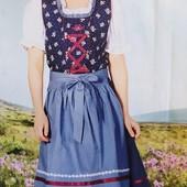 Оригинальный комплект платье, фартук и блузка на девочку Lupilu Германия размер 98