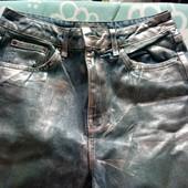 стильные серебристые джинсы