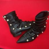 Сапоги Zara Black оригинал 35-36 разм 23cm