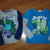 2 шт одним лотом, 122-128 , качественные футболки