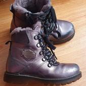 Кожаные зимние ботинки на овчинке 32 р. Tutubi Турция