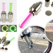 Светодиодная подсветка колес велосипеда на ниппель.1шт.зеленый цвет