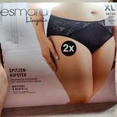 Германия!!! Шикарные женские трусы, трусики их атласа и кружева! 2 шт! 48/50 евро!