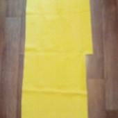 Остаток искусственной кожи, яркий желтый цвет, 79х45 см