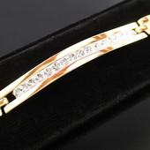 Новинка!!!Красивый нежный браслет 19 см *6 мм позолота 585 пробы