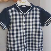 Футболка-рубашка Nutmeg на 1,5-2 года