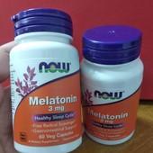 крепкий сон, Мелатонин, 3 мг, 60 капсул, Now Foods USA