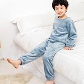 Шикарная плюшевая детская пижама домашний костюм унисекс