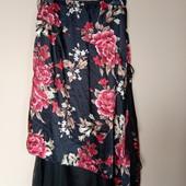 Гарна юбка в квітковий принт на підкладці, 10% знижка на УП
