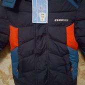 зимня куртка на хлопчика 110см