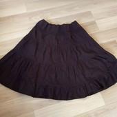 Гарна трикотажна юбка шоколадного кольору, ідеальний стан, 10% знижка на УП
