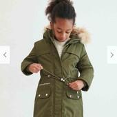 Крутое демисезонное пальто-парка Reserved для девочки 9-10 лет 140 см