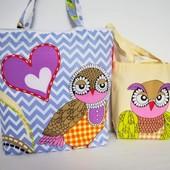 Совы! Комплект милых сумочек для мамы и дочки!