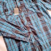 Качественная хлопковая мужская рубашка Mauro Ferrini (Германия) Размер М