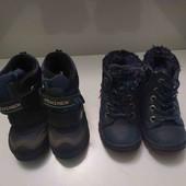 Зимние ботиночки на мальчика. В лоте 2 пары. 21 размер.