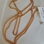 новинка! очень красивая и нежная цепочка, плетение панцирное 50 см, позолота 585 пробы