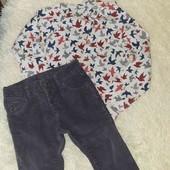 Нарядный комплект рубашка вильветки на 2-3года