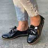 Лаковые туфли/макасины с шикарным декором.36-23 см.