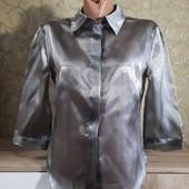 Собираем лоты!!! Женская, прозрачная рубашка-стекло, размер s-xs