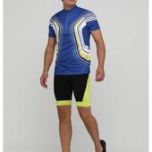 Мужская желтая вело футболка crivit, размер XL