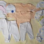 Пакет одежды для девочки 0-6м,12 единиц