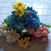 Лот три букета. Искусственные цветы
