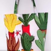 Кактусы! Яркая практичная сумка! Вместительная и удобная!