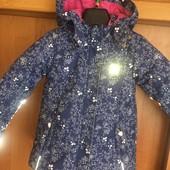 Куртка, холодная весна, внутри флис, p. 6 лет 116 cм, Kanz. состояние хорошее