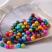 Цветные бусинки жемчужные 5мм. Лот 100 шт Любой цвет на выбор или микс на выбор.