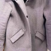 стильное пальто шерсть, pinkie,евро 40-42