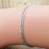 Срібний браслет ромбик