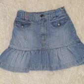 Юбка джинсовая на 2-3года