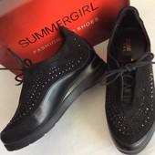 шикарные демисезонные Стильные ботинки со стразами размер 36