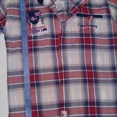 Классная рубашка с коротким рукавом на мальчика. Замеры на фото)