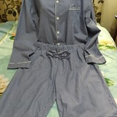 полосатая пижама фирмы Belmont, размер L. 100% хлопок.