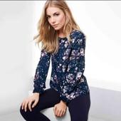 Цветочная блуза свободного кроя