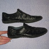 Облегчённые туфли на мальчика! Натуральная кожа! По стельке 22 см.
